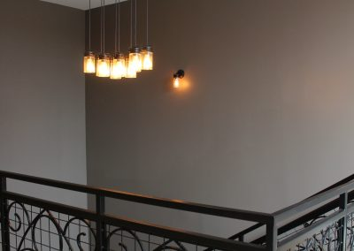 Caffe Lena stairway lights